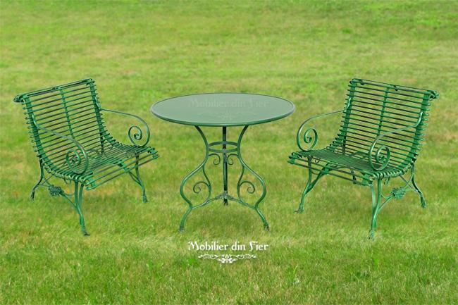 mobilier-masa-scaune-gradina-fier forjat 3