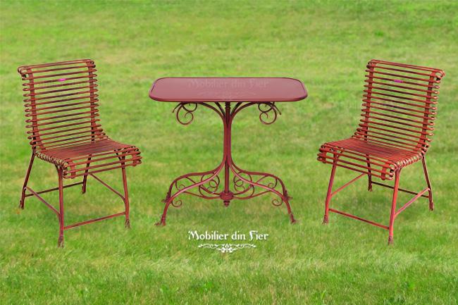 mobilier-masa-scaune-gradina-fier forjat 5